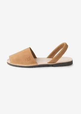 Sandales camel en cuir
