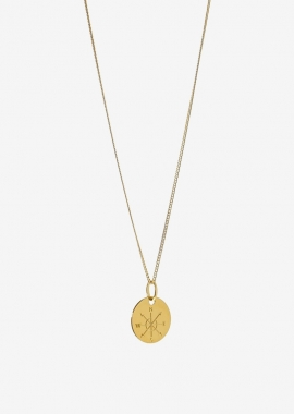 Collier en argent plaqué or
