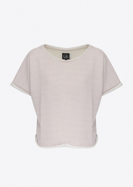 Sweat molleton en coton nude