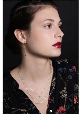Goutte - Boucles d'oreilles en argent plaqué or rose