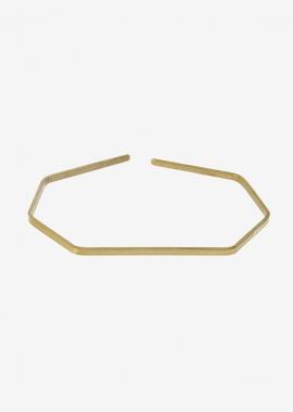 Bracelet géométrique plaqué or
