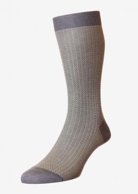Chaussettes en coton gris peigné mélangé