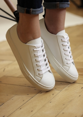 Sneakers blanches en cuir vegan