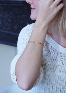 Bracelet en argent plaqué or