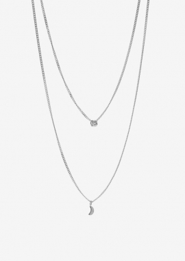 Stacked silver necklaces