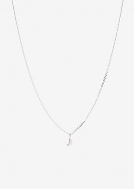 Moon silver necklace