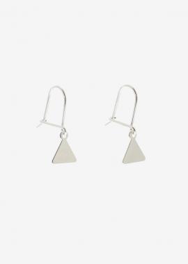 Mini triangle - Boucle d'oreilles en argent