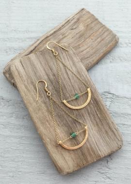 Irisagate earrings