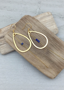 Boucles d'oreilles Maria Lapis-lazuli