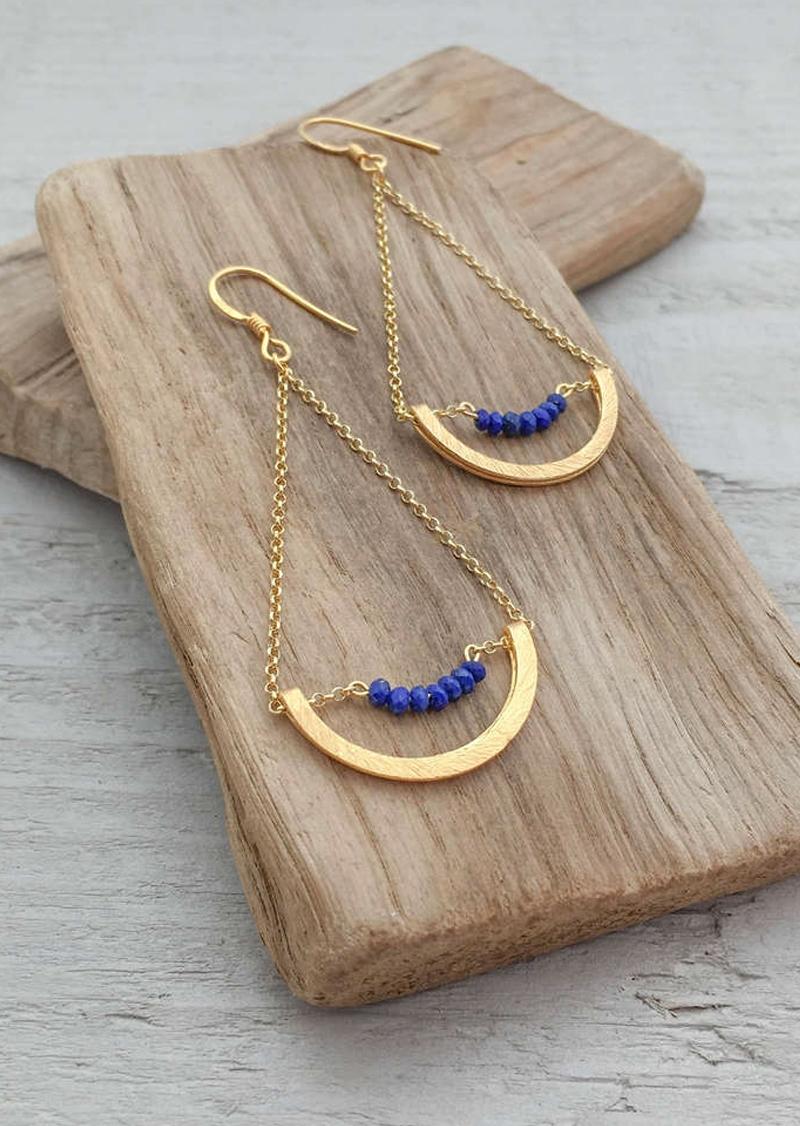Bouclesd'oreillesIris(Lapis-lazuli)