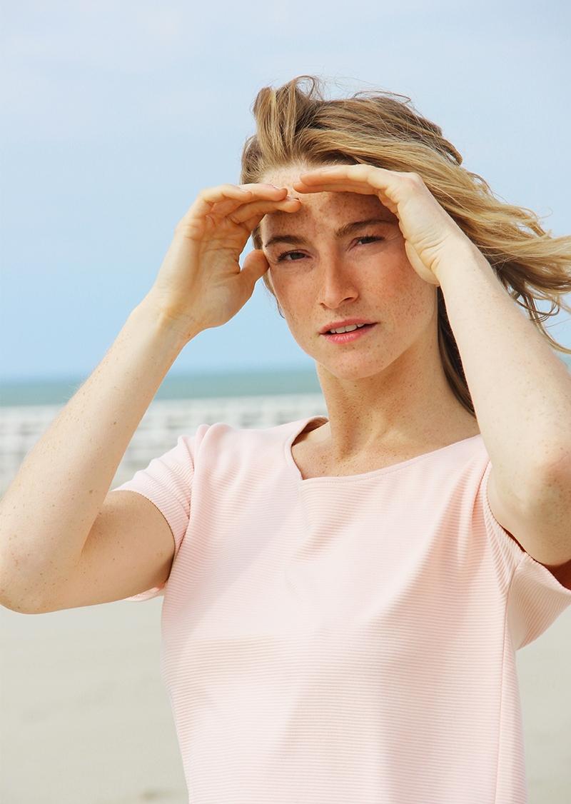 Robe Roselyne en coton biologique- rose