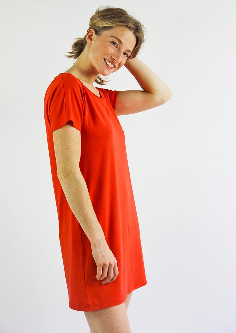 Robe Roselyne rouge carmin