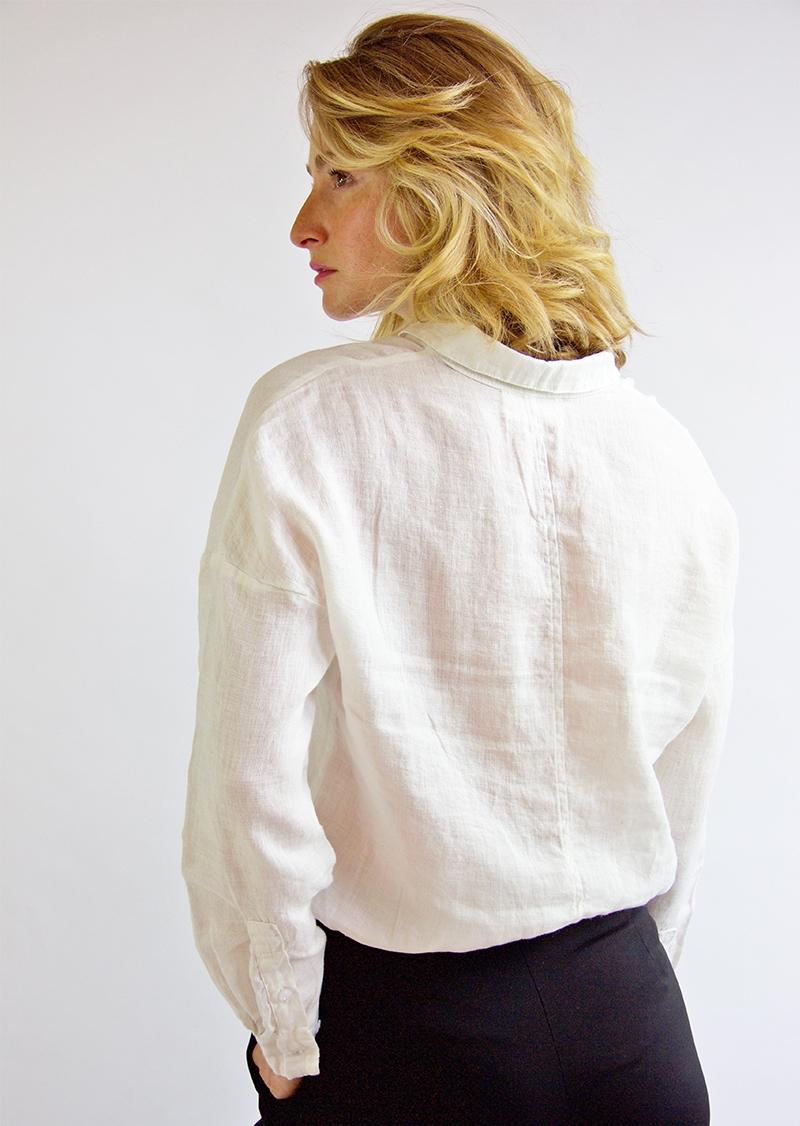 Chemisier en lin blanc Elena