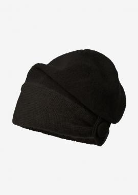 Black mohair beanie