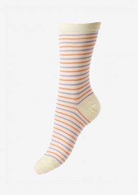 Cream sea Island cotton socks