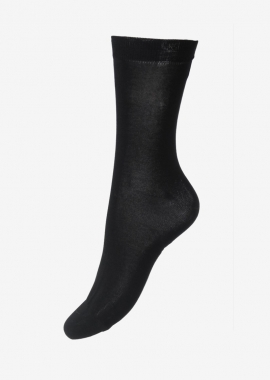 Chaussettes en coton égyptien noir