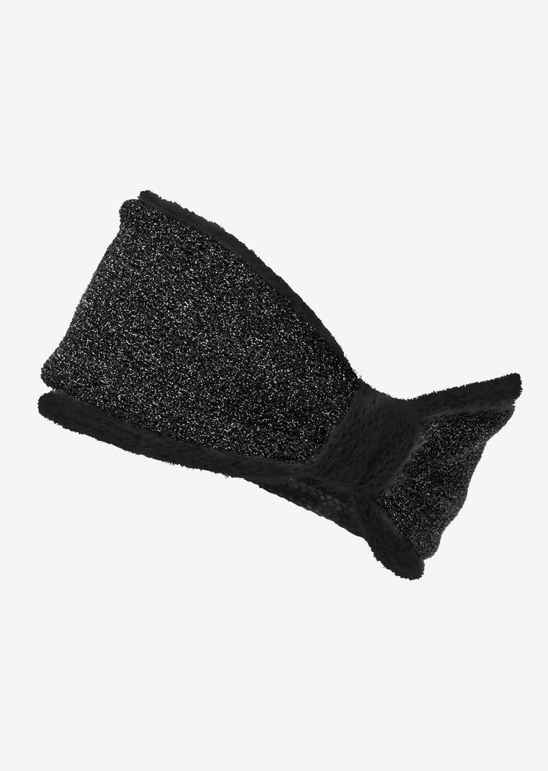 Turban croisé noir