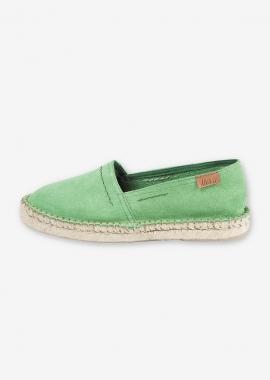 Green flat espadrilles