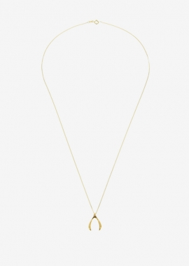 Collier wishbone plaqué or