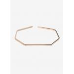 Bracelet géométrique plaqué or rose