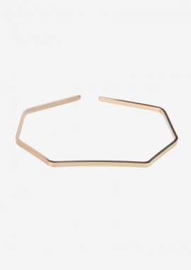 Pink gold plated geometric cuff