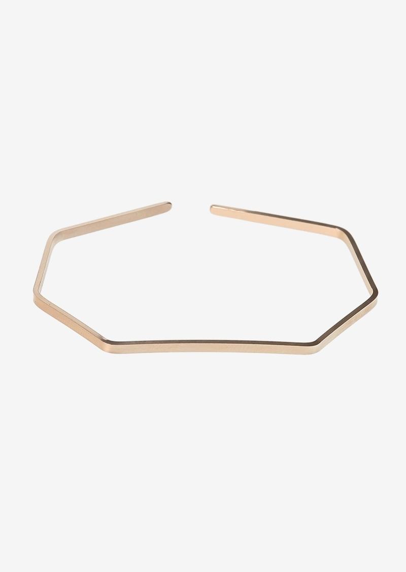 Pink gold plated geometric cuff