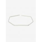 Silver geometric cuff