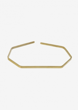Yellow gold plated geometric cuff