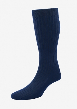 Men - Navy blue cashmere socks