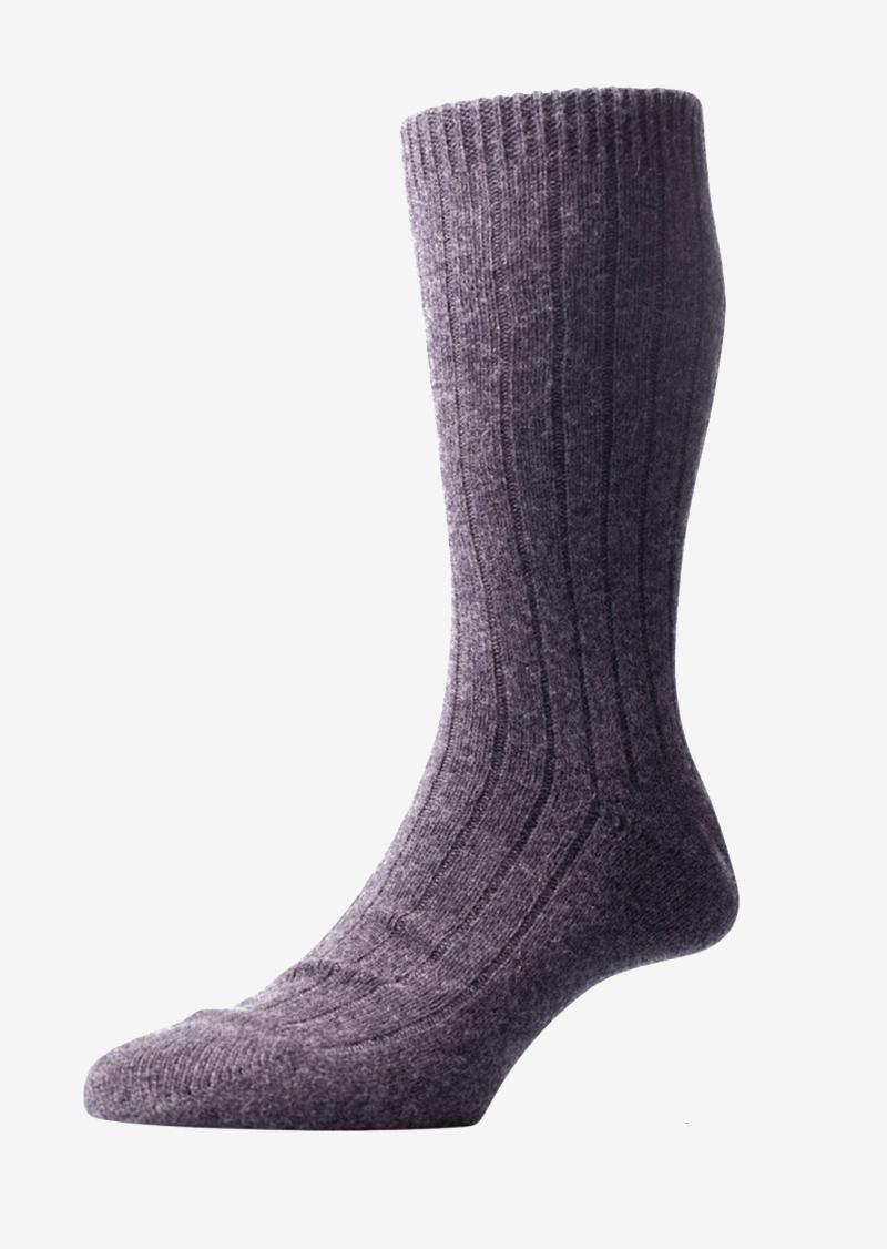Hommes - Chaussettes en cachemire gris anthracite