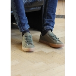 Sneakers kaki homme en daim vegan