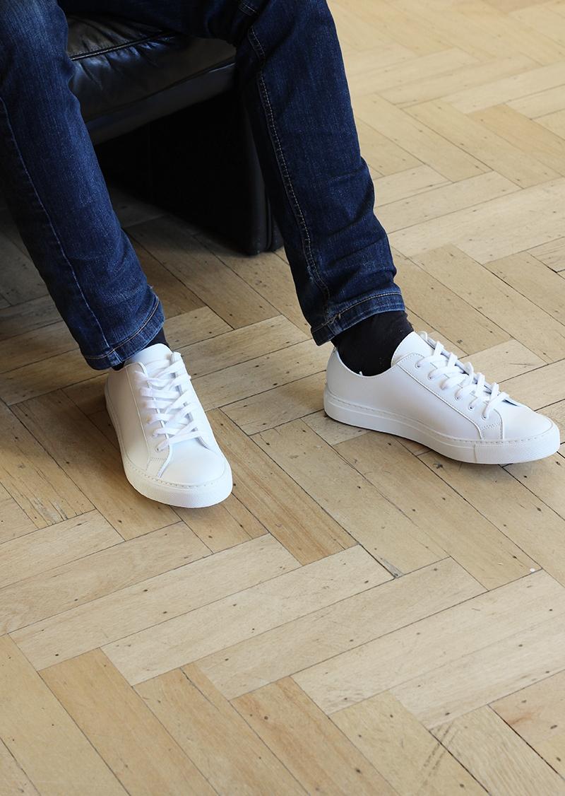 Sneakers homme en cuir vegan
