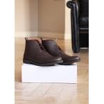 Brown men vegan leather boots