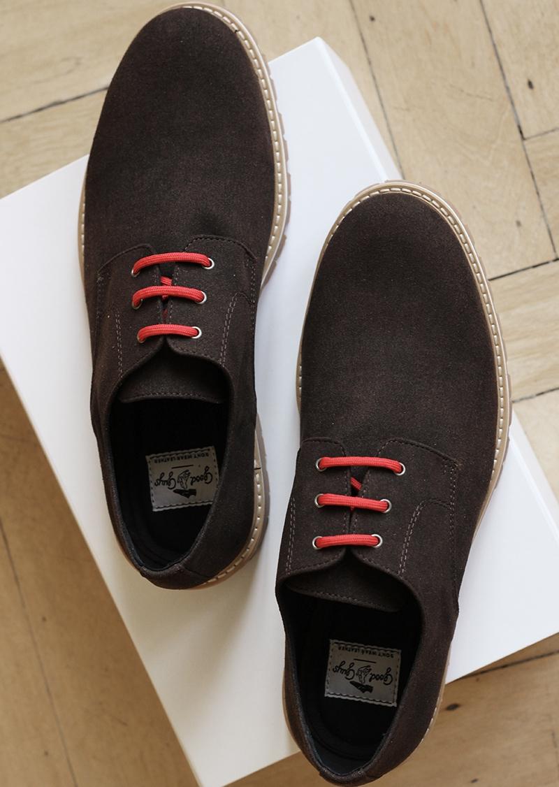 Brown suede vegan boots