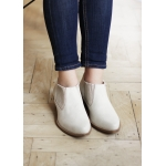 Low boots beiges en cuir vegan