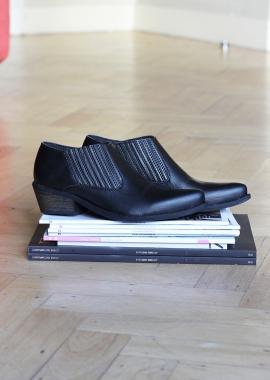 Low boots noires en cuir vegan