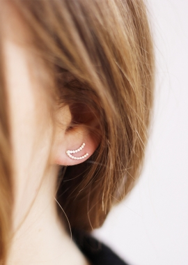 Double moon earring