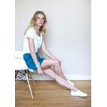 Agnes Skirt - Azur organic velours