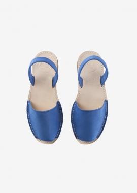 Sandales bleu océan en cuir