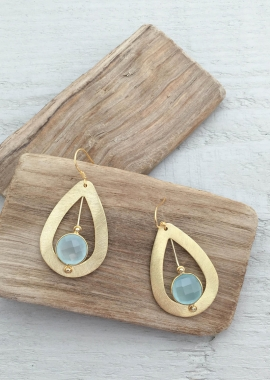Blue Moïra earrings
