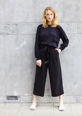 Black luxe cotton sweater SANDR0