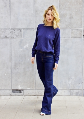 Navy luxe cotton sweater SANDRO