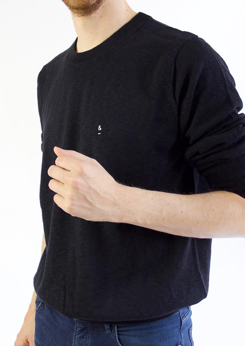 Pull en coton noir SANDRO