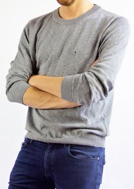 Grey luxe cotton sweater SANDRO