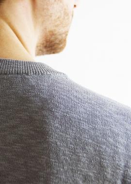 Pull en coton gris SANDRO