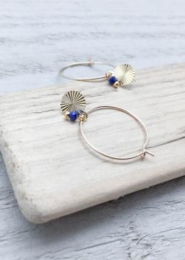 Salomé hoop earrings Lapis-lazuli