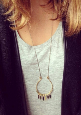 Black necklace Marion