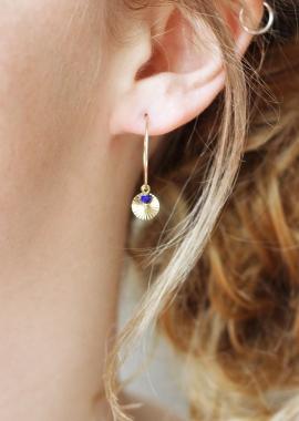 Créoles Salomé Lapis-lazuli