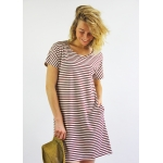 Roselyne organic cotton dress - striped navy