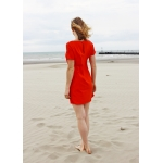 Roselyne deep red dress